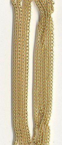 Ketting fijn goudkleur 1,9 mm 1 mtr. 11809-9402 (Locatie: K3)
