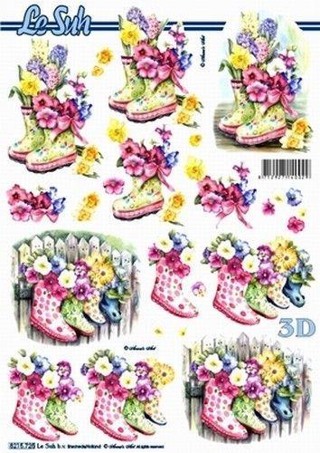Le Suh knipvel bloemen/laarsjes/zomer 8215725 (Locatie: 4433)