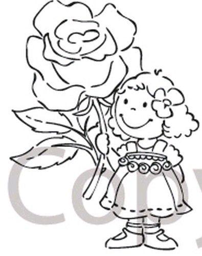 Marianne Design clear stamp flowergirl EC 0123 (Locatie: H314 )