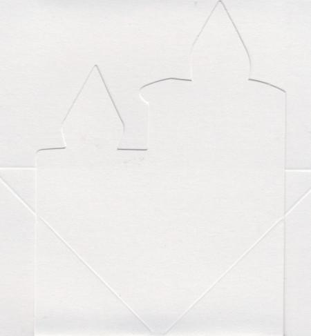 Mireille dubbele kaart metallic wit kaarsen 6 stuks (Locatie: L72)