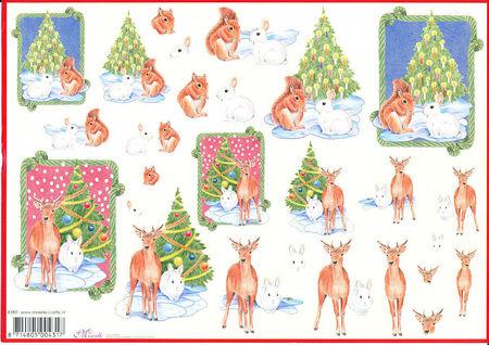 Mireille knipvel kerstmis dieren X380 (Locatie: 2693)