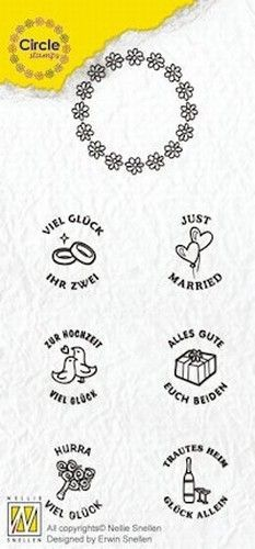 Nellie Circle Clear Stamps German texts - Marriage CCSM003 (Locatie: i616 )