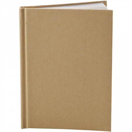 Notitieboek, A6 10,5x15 cm, dikte 80 gr, bruin, 1 stuk, dikte 8 mm