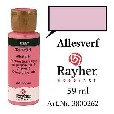 Rayher acryl- allesverf babyroze 59 ml. 3800262 (Locatie: KB)