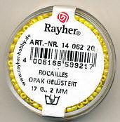 Rayher rocailles 2 mm geel 17 gr. 1406220 (Locatie: K3)