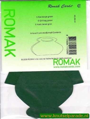 Romak cadeautasjes groen 5 stuks K5 288 24 (Locatie: 5R )