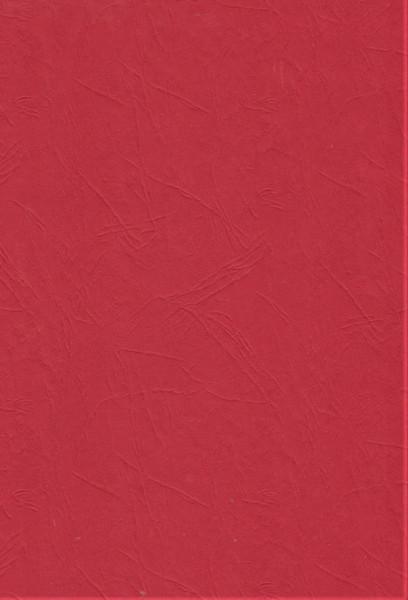Rood karton lederlook, A4, 412744 (Locatie: 0412)