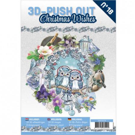 Stansboek Christmas Wishes, 24 afbeeldingen en 8 designpapier, 3DPO10018 (Locatie: 0424)
