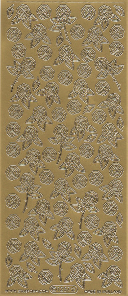 Starform sticker goud bloemen 1257 (Locatie: A245)