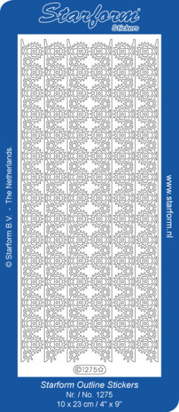 Starform sticker goud randje 1275 (Locatie: A247)
