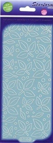 Starform sticker velvet blaadjes light blue 7110 (Locatie: B357 )
