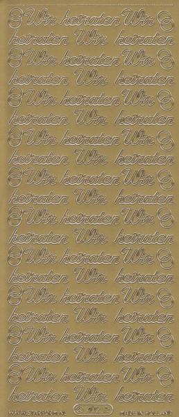 Starform sticker Wir Heiraten goud 402 (Locatie: A019)