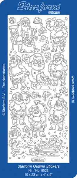 Starform sticker zilver kerst 8523 (Locatie: S133)
