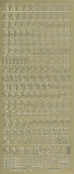 Starform stickervel letters goud 814 (Locatie: u035)