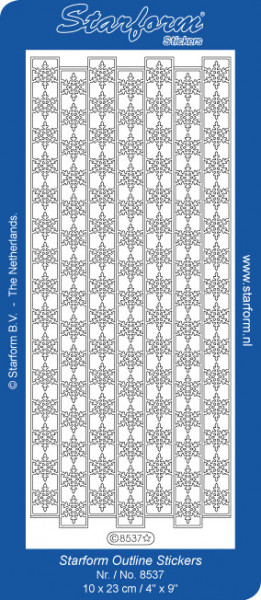 Starform stickervel sneeuwvlokken goud 8537 (Locatie: C252)
