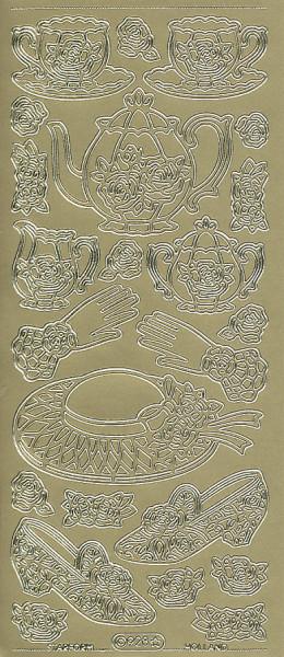 Starform stickervel thee goud 928 (Locatie: f099)