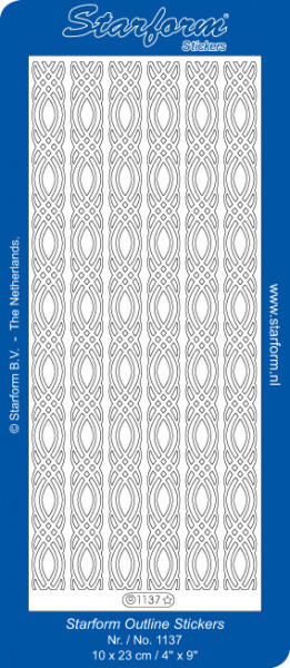 Starform stickervel zilver 1137 (Locatie: zz121)