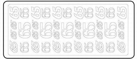 Sticker 65 zilver 20380/3654s (Locatie: H456)