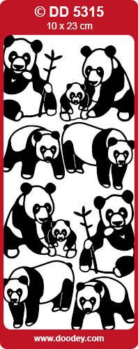 Sticker zilver panda DD5315 (Locatie: NN124)
