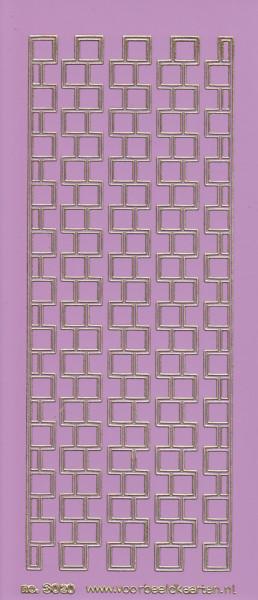 Stickervel lila/goud nr. 3020 (Locatie: K144)
