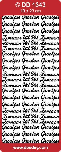 Stickervel Zomaar/Groetjes zilver DD1343 (Locatie: F021)