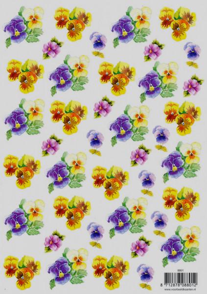 Voorbeeldkaarten knipvel bloemen 8801 (Locatie: 2223)