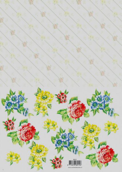 Voorbeeldkaarten knipvel bloemen 8915 (Locatie: 1236)