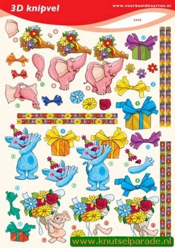 Voorbeeldkaarten knipvel verjaardag 2425 (Locatie: 6758)