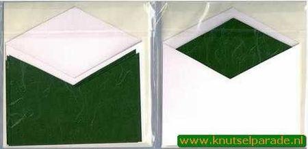 Wekabo vierkante kaart wit / groen (Locatie: LL025 )