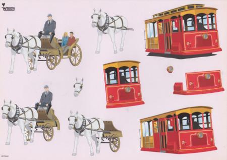 Wekon knipvel antiek vervoer W75552 (Locatie: 1563)