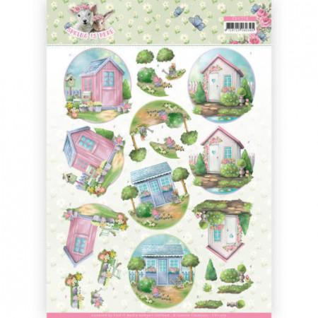 Yvonne Creations knipvel tuinhuis CD11279 (Locatie: 0125)