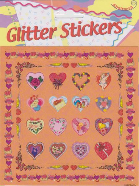 Abstracta glitter stickers liefde (Locatie: 0922)