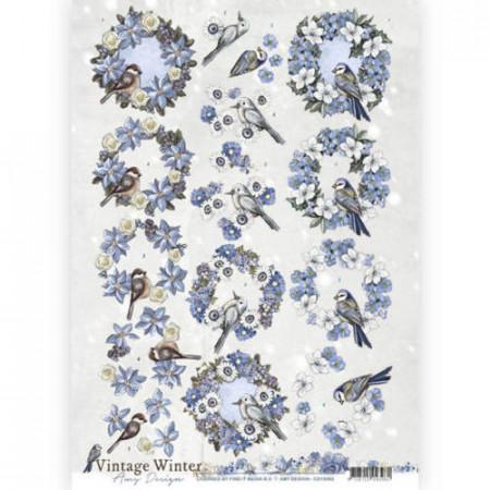 Amy Design knipvel winter vogels CD10982 (Locatie: 4511)