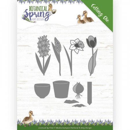 Amy Design snijmal Botanical Spring Bulbs and Flowers ADD10199 (Locatie: M035)