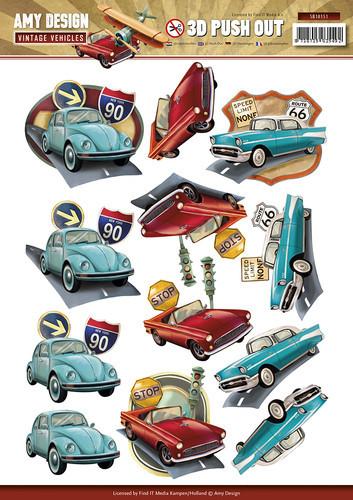 Amy Design stansvel Vintage auto's SB10151 (Locatie: 1564)