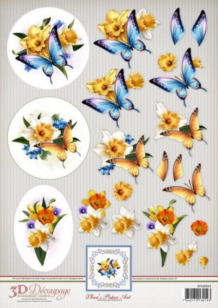 Ann's Paper Art knipvel vlinders APA3D023 (Locatie: 5537)