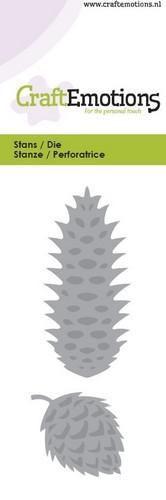 CraftEmotions snij- en embosmal dennenappel 115633/0114 (Locatie: K179)