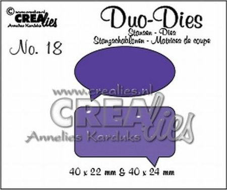 Crealies snijmal Tekstballonnen CLDD18 (Locatie: C388)