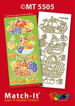 Doodey Match-It knipvel en sticker fruitmanden MT5505 (Locatie: 1727)