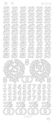 Find It stickervel glanzend zilver jubilieum CD3048 (Locatie: h211)