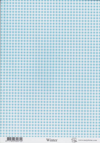 Geruit decoratiepapier WINTER (Locatie: 2521)