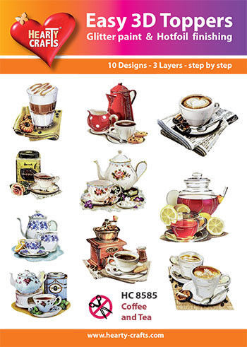 Hearty Crafts Easy 3D Toppers Coffee and Tea HC8585 (Locatie: K2)