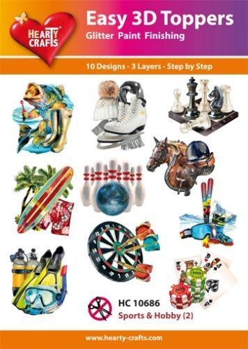Hearty Crafts Easy 3D Toppers - Sport en Hobby 2 HC10686 (Locatie: K2)