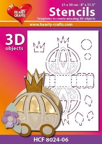 Hearty Crafts Stencil 3D Trouwkoets HCF8024-06 (Locatie: 2526)