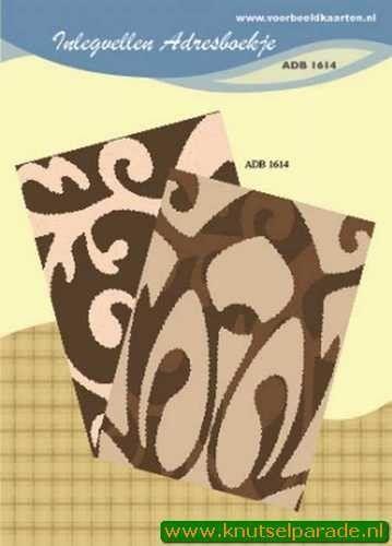 Inlegvellen adresboekje ADB 1614 (Locatie: D35 )