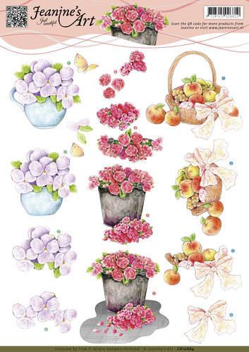Jeanine's Art knipvel bloemen CD10664 (Locatie: 4506)