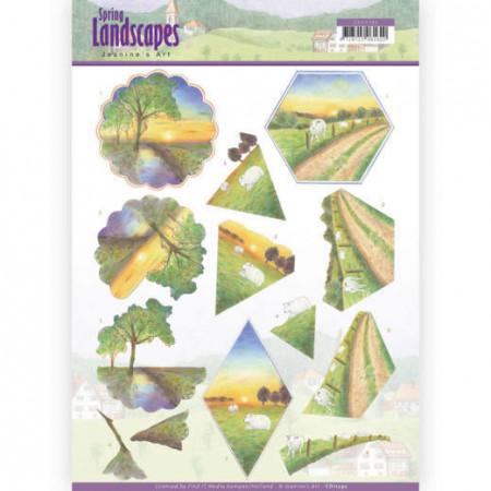 Jeanine's Art knipvel landschappen CD11292 (Locatie: 4336)