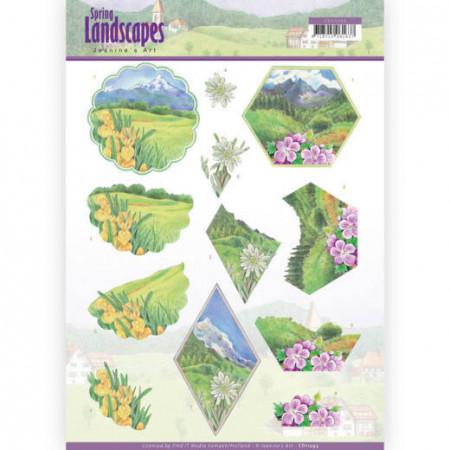 Jeanine's Art knipvel landschappen CD11293 (Locatie: 4340)