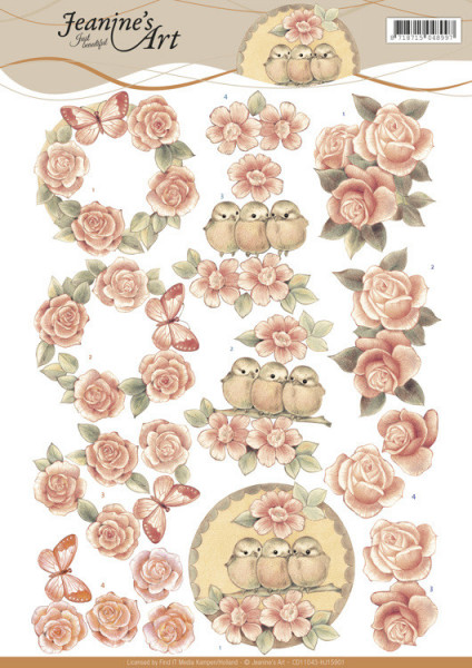 Jeanine's Art knipvel vintage rozen CD11043 (Locatie: 2418)