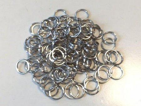 Key Rings 15 mm platinum per stuk 12335-3502 (Locatie: K3)